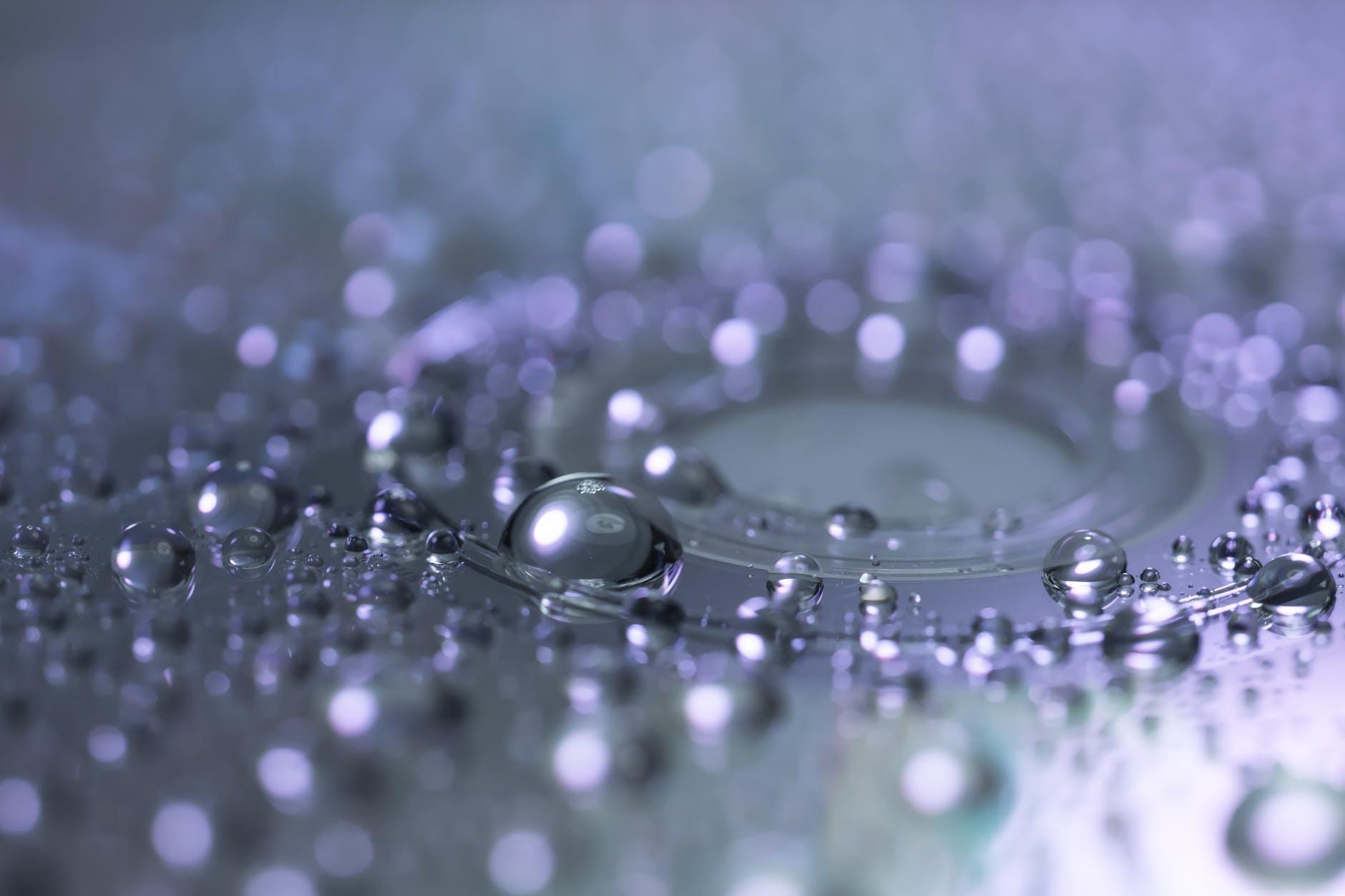 back light beads blur bubble
